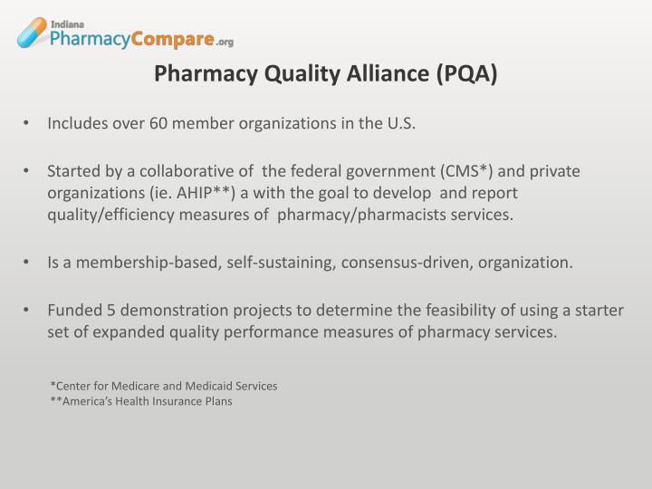 Pharmacy Quality Alliance (PQA)