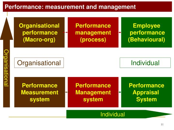 Performance: measurement and management