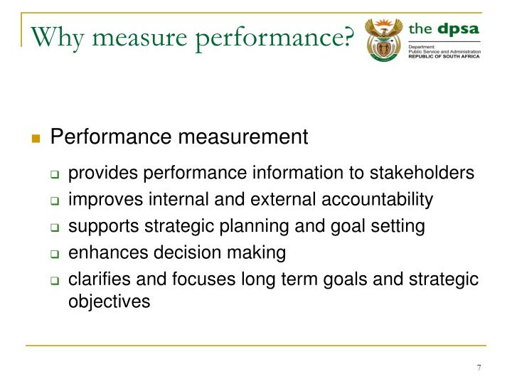 Why measure performance?