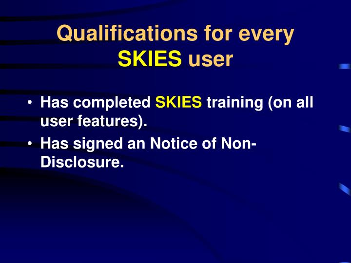 Qualifications for every