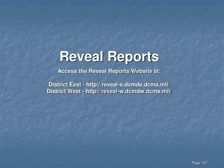 Reveal Reports