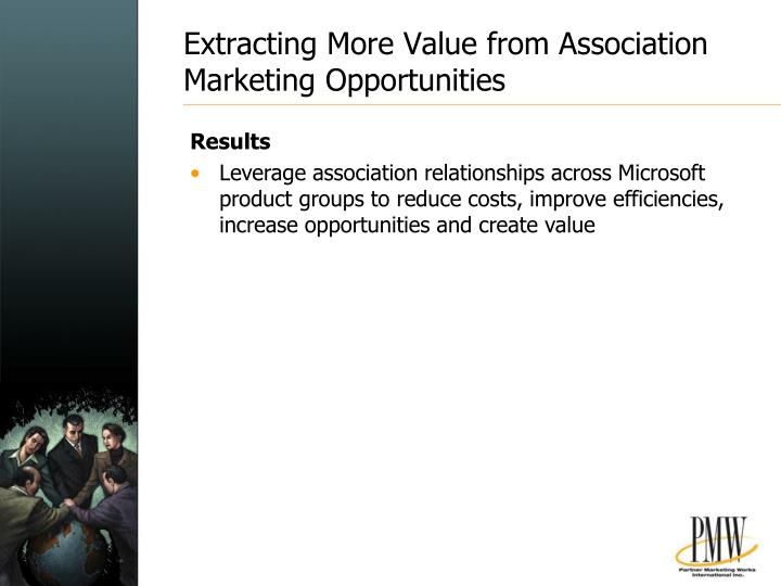 Extracting More Value from Association Marketing Opportunities