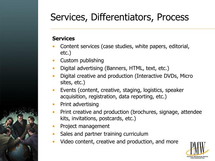 Services, Differentiators, Process
