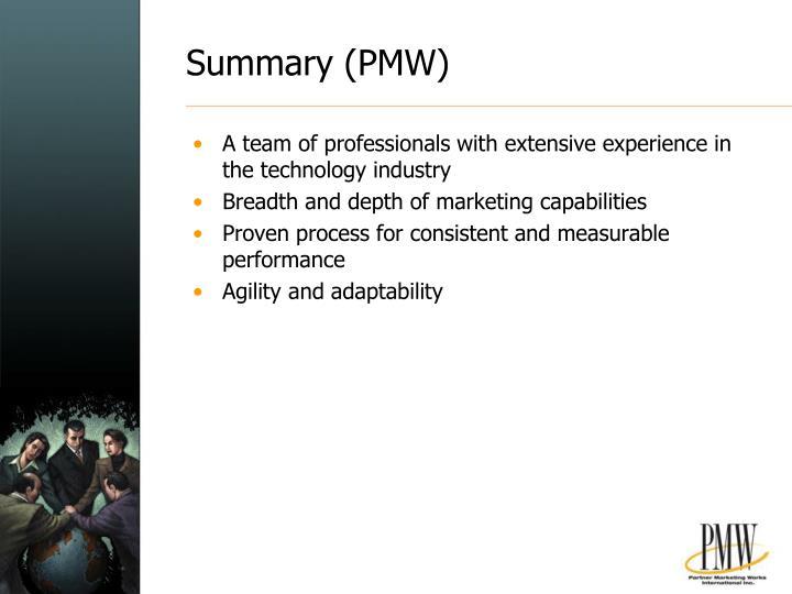 Summary (PMW)