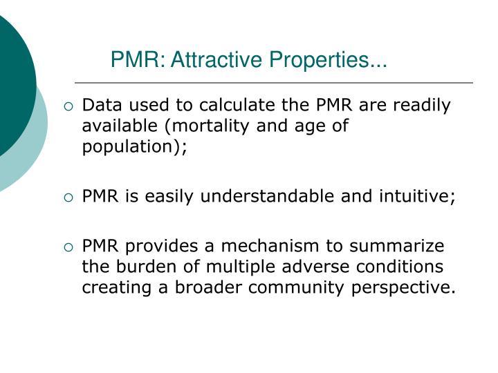 PMR: Attractive Properties...