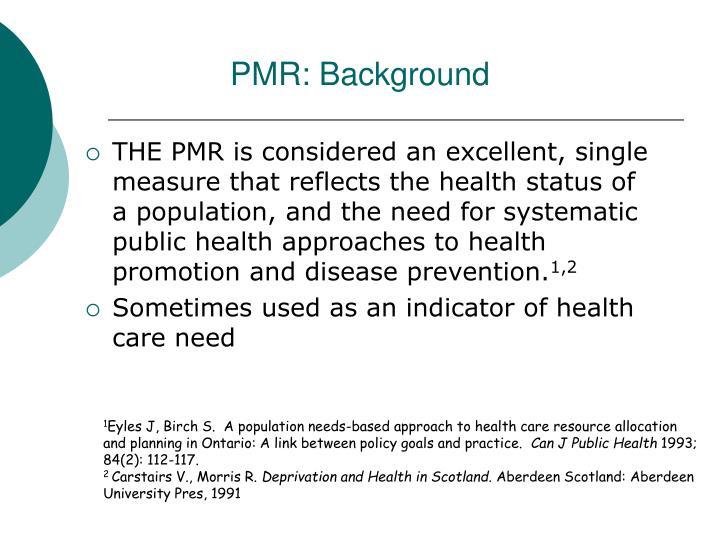 PMR: Background