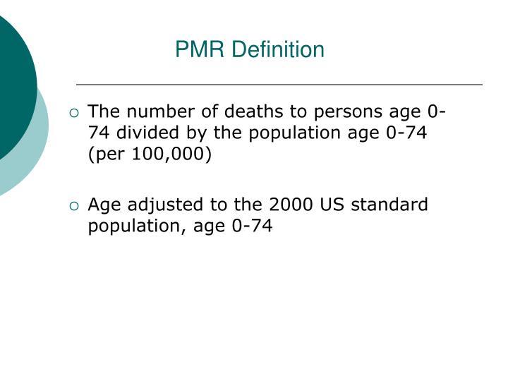 PMR Definition