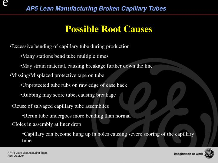 Possible Root Causes