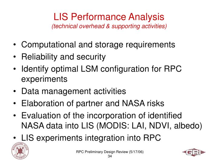 LIS Performance Analysis