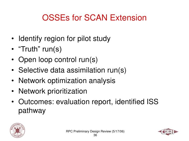 OSSEs for SCAN Extension