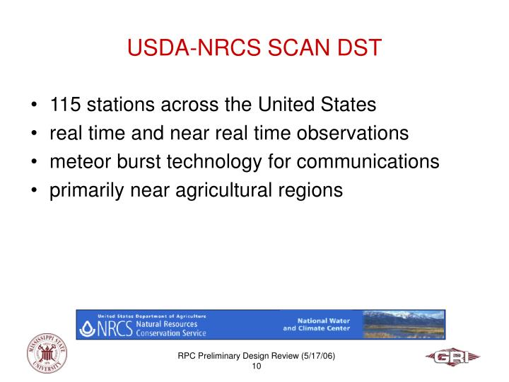 USDA-NRCS SCAN DST