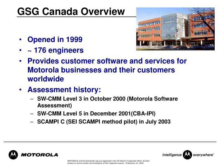 GSG Canada Overview