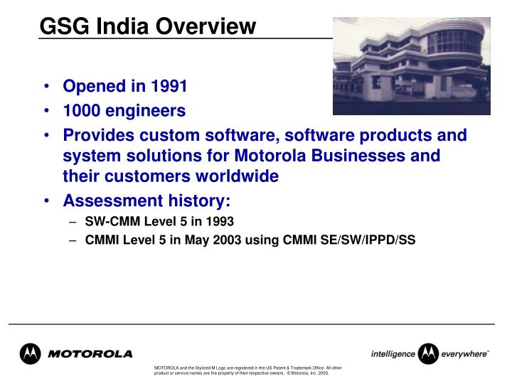 GSG India Overview