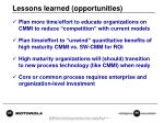 lessons learned opportunities