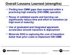 overall lessons learned strengths