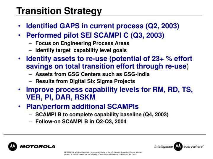 Transition Strategy