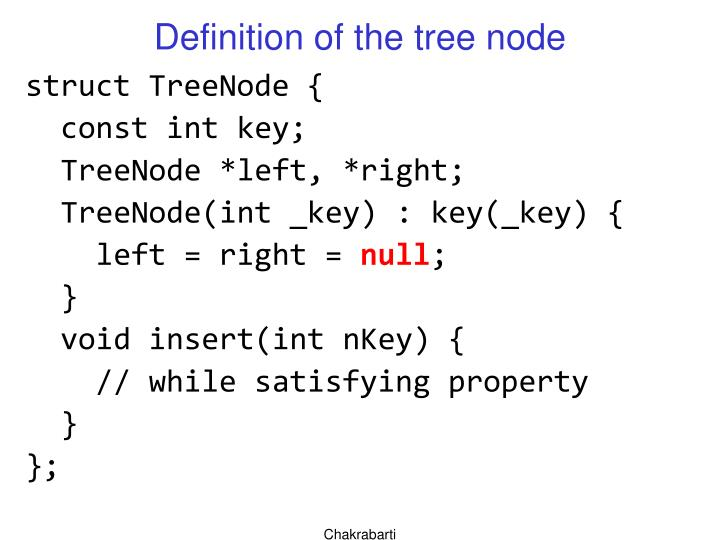 Definition of the tree node
