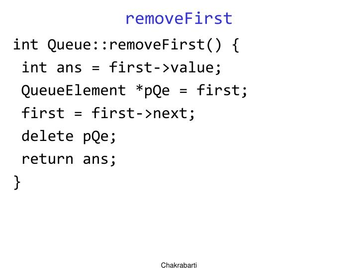 removeFirst