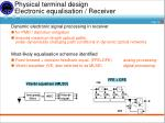 physical terminal design electronic equalisation receiver