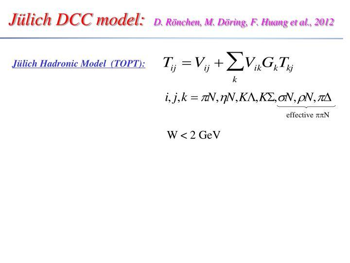 Jülich DCC model: