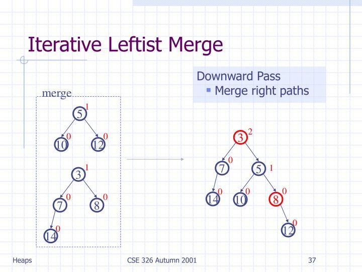 Iterative Leftist Merge