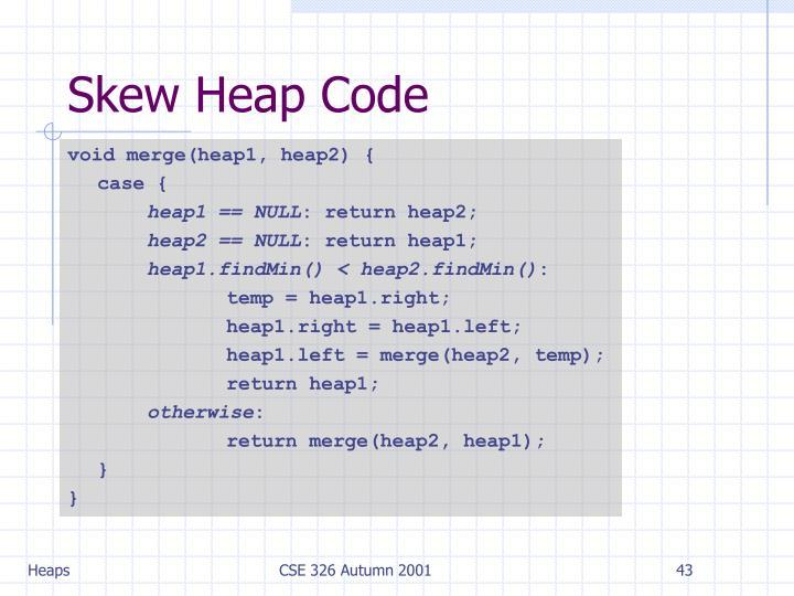 Skew Heap Code