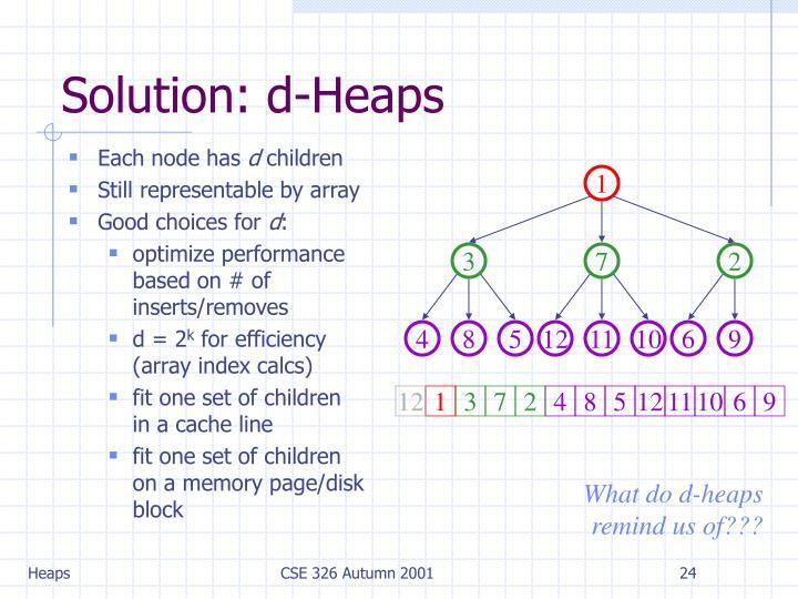 Solution: d-Heaps