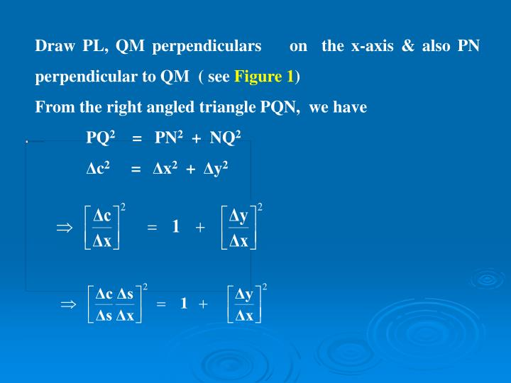 Draw PL, QM perpendiculars    on  the x-axis & also PN  perpendicular to QM  ( see