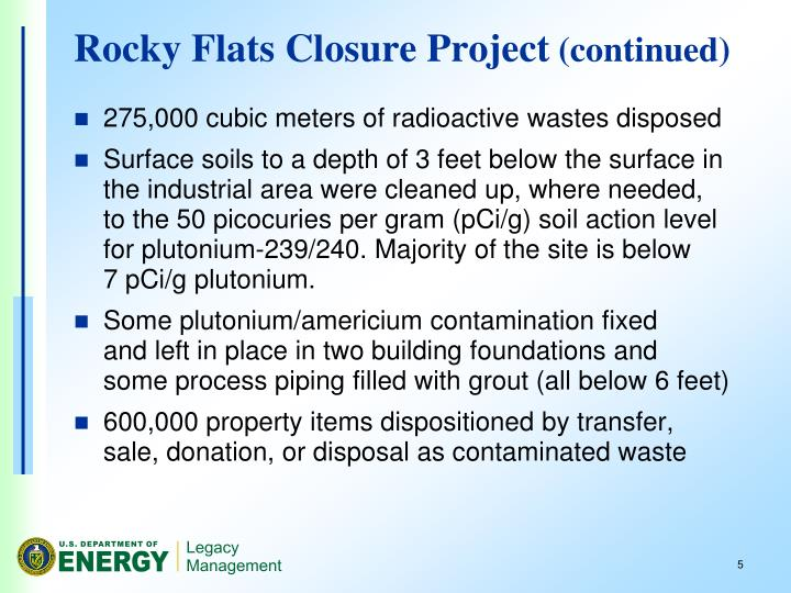 Rocky Flats Closure Project