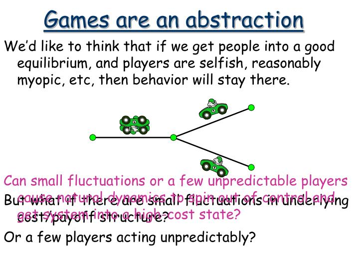 Games are an abstraction