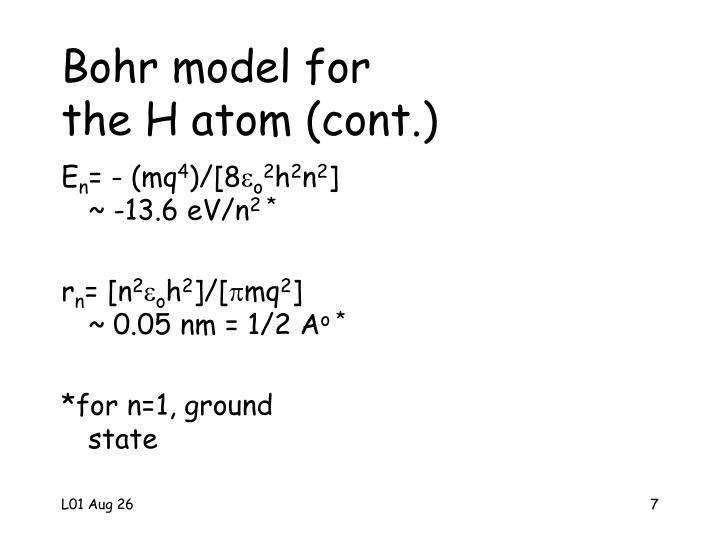 Bohr model for