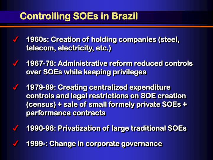 Controlling SOEs in Brazil