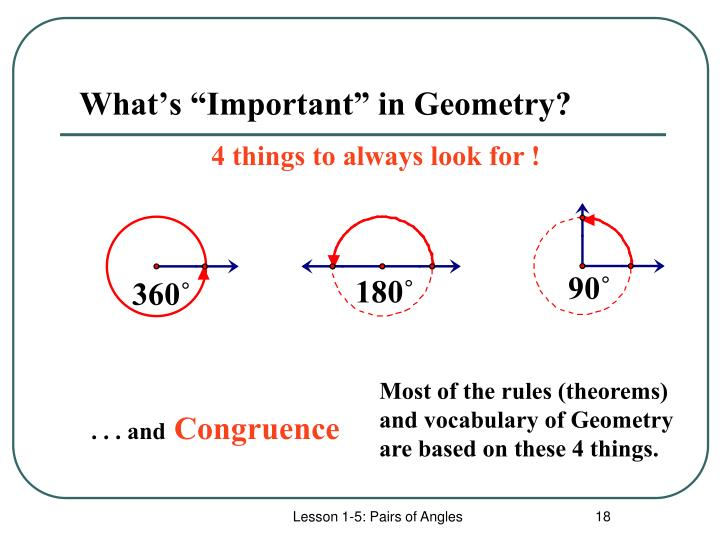"""What's """"Important"""" in Geometry?"""