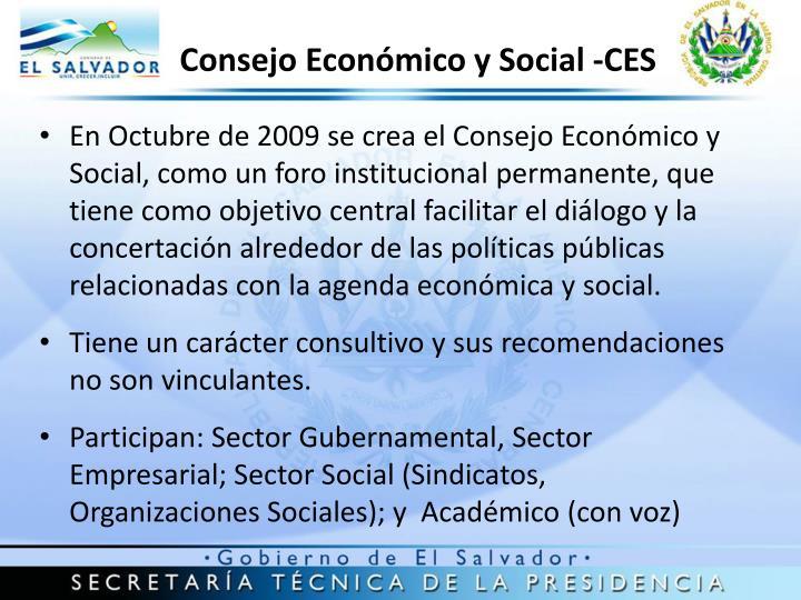 Consejo Económico y Social -CES