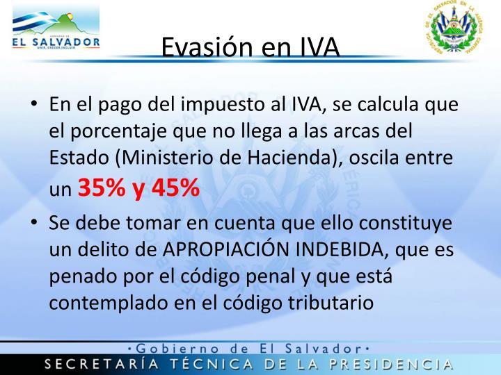 Evasión en IVA