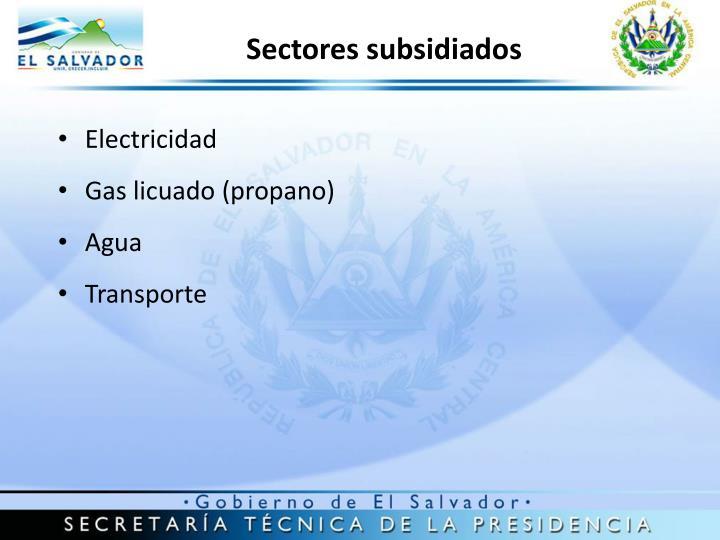 Sectores subsidiados