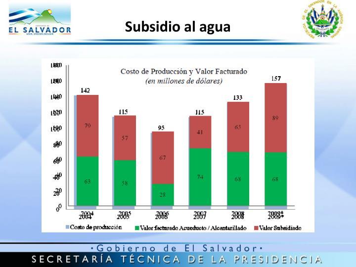 Subsidio al agua