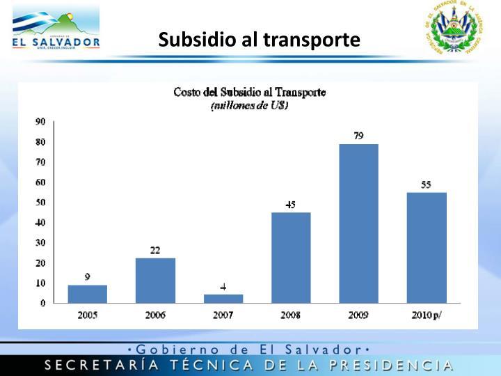 Subsidio al transporte