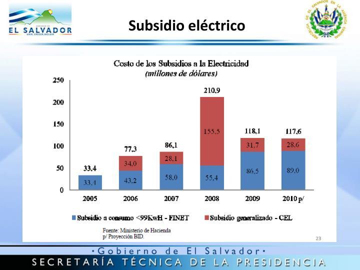 Subsidio eléctrico