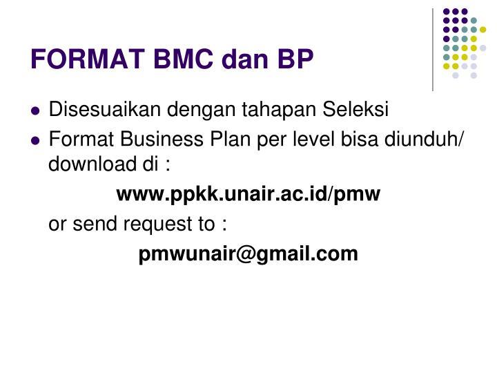 FORMAT BMC dan BP