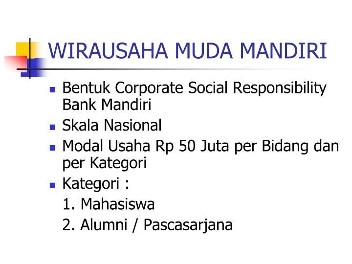 WIRAUSAHA MUDA MANDIRI