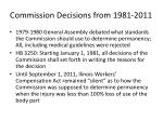 commission decisions from 1981 2011