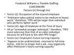 frederick williams v flexible staffing 11wc046390 factors ii through iv