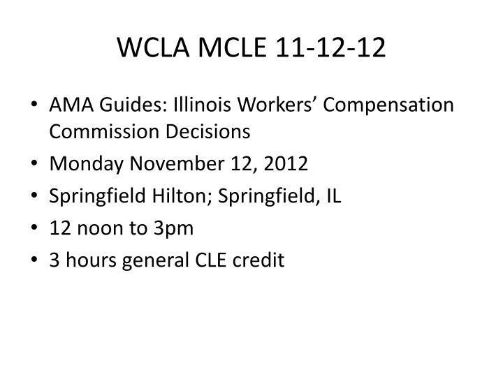 wcla mcle 11 12 12