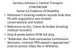 zachary johnson v central transport 11wc041328 factor v evidence of disability
