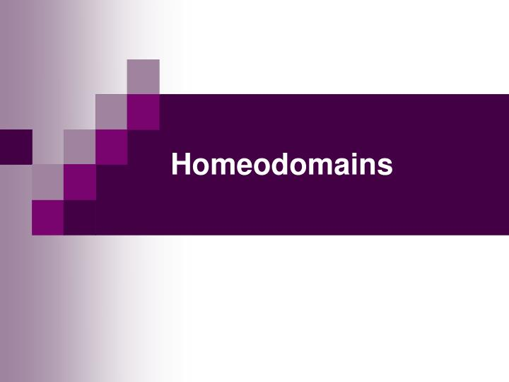 Homeodomains