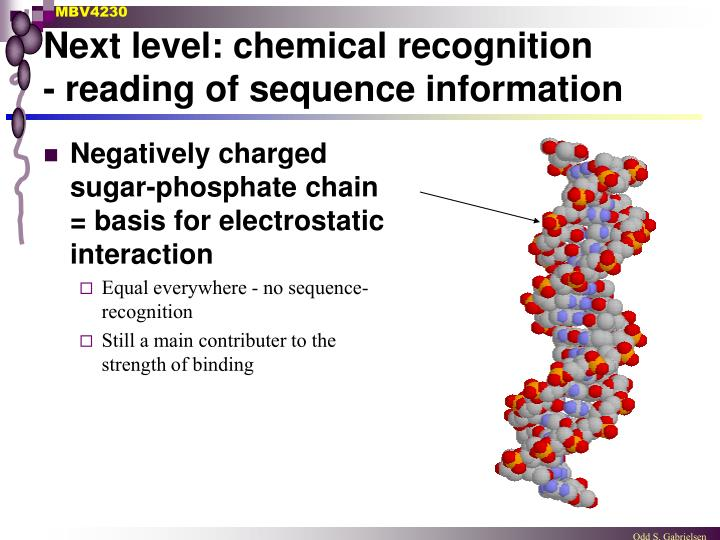 Next level: chemical recognition