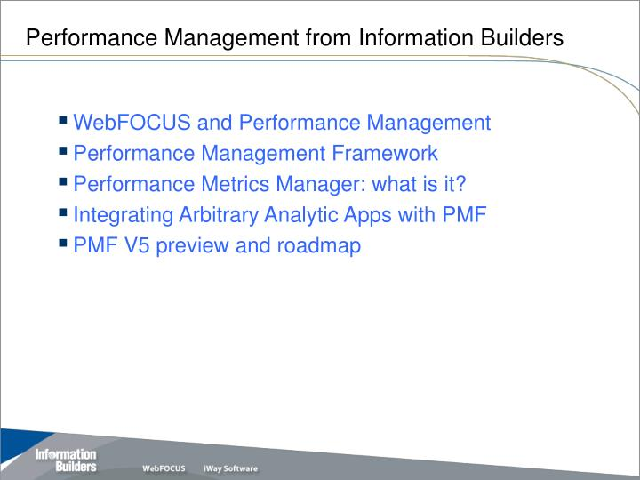 Performance management from information builders