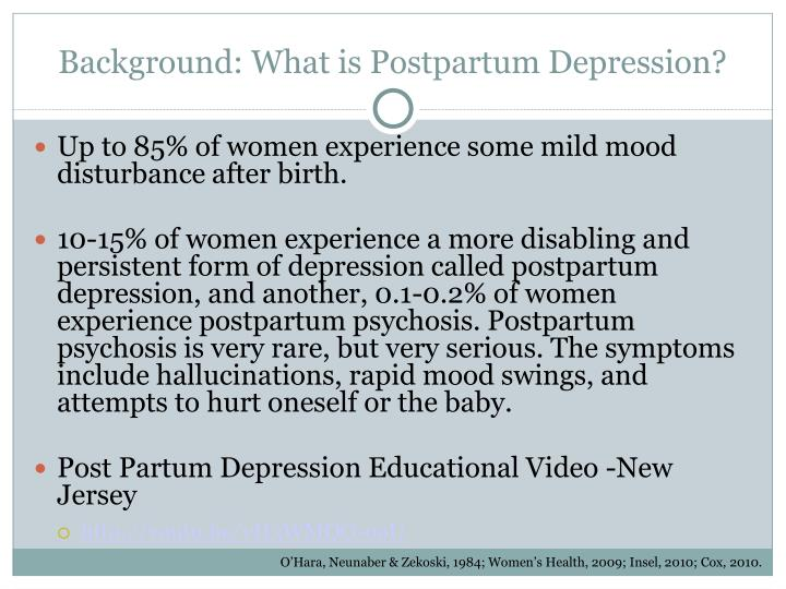 Background: What is Postpartum Depression?