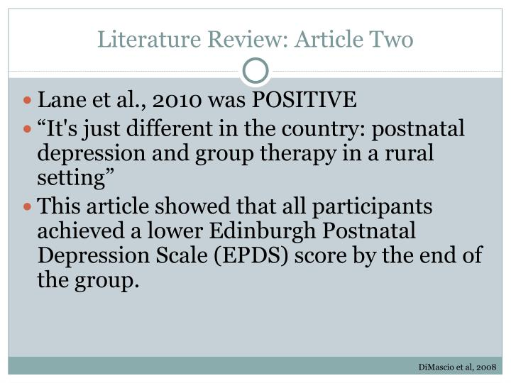 Literature Review: Article Two